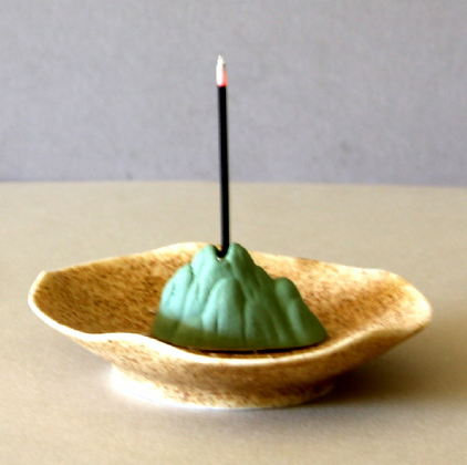 Holy Mountain Incense Stand & Plate