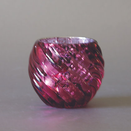Tea Light Holder, Wavy Purple