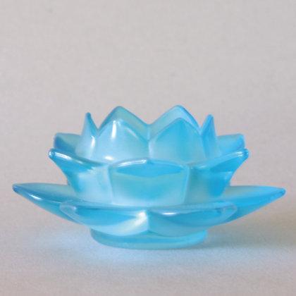 Lotus Tea Light Holder, Blue