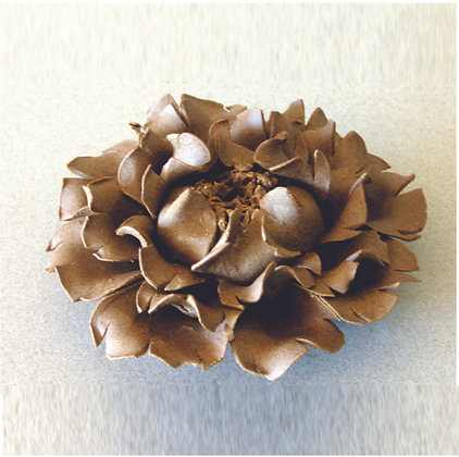Peony Incense Stand (M), Clay