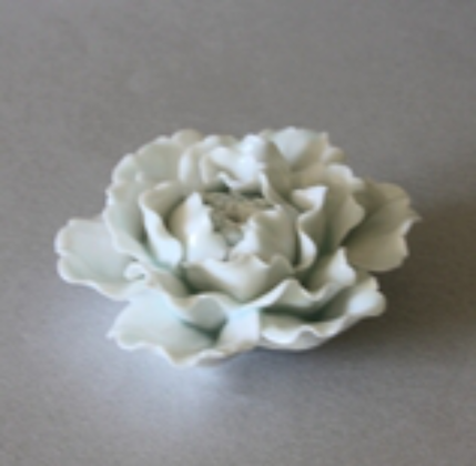 Peony Flower Incense Stand, Celadon