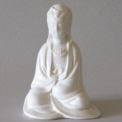 Seated Kwan Yin w/ Hood #4 (S)