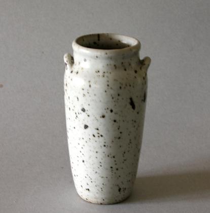 Rustic Vase w/ Handle, White