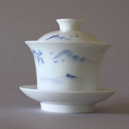 Hand-painted Gaiwan, Sansui Land