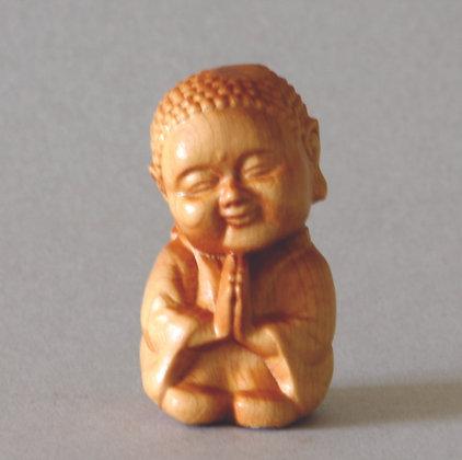 Praying Jizo Boxwood