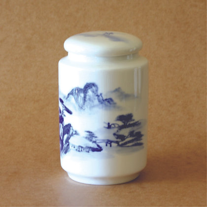 Classic Landscape Painting Tea Canister