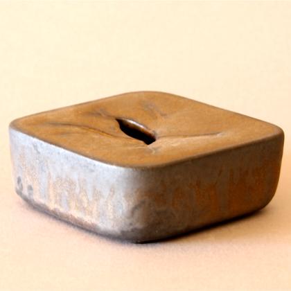 Square Vase Grey