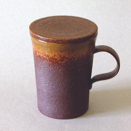 Tall Mug w/ Lid, Brown