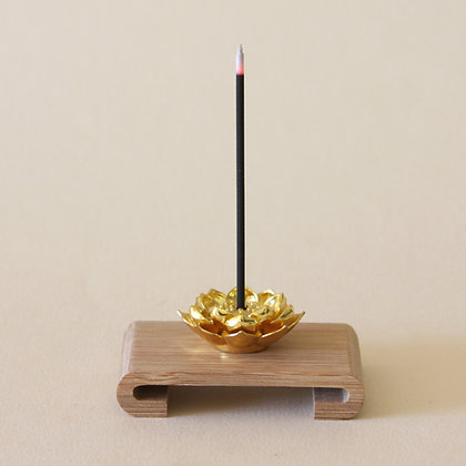 Metal Lotus Flower Incense Stand