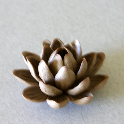 Clay Lotus Incense Stand