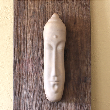 Buddha Face Hanging, Clay