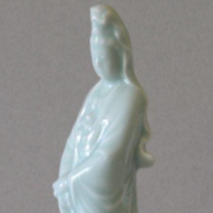 Celadon Standing Kwan Yin