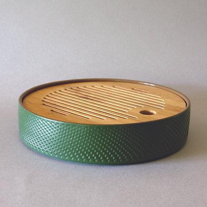 Circ. T Boat, Ceramic & Bamboo, Green (M)