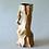 Thumbnail: Wood Trunk Vase, Brown