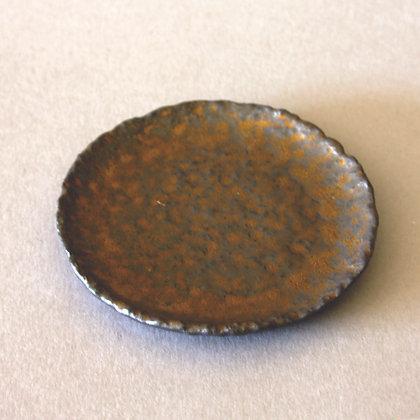 Ceramic Circle Saucer, Hand-beaten