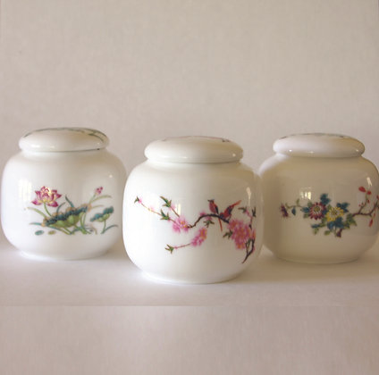 Flower Tea Canisters (M), Set of 3