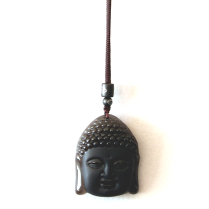 Obsidian Buddha Necklace