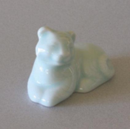 Celadon Tiger Zodiac Figure