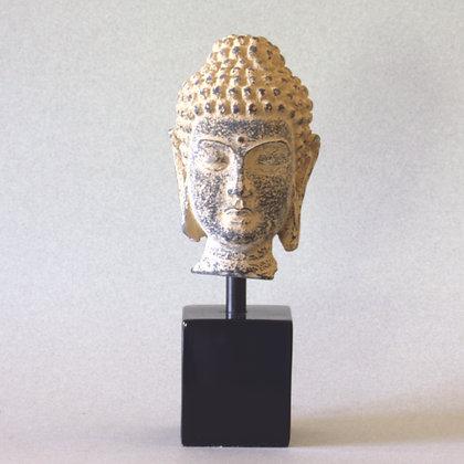 Budddha Head on Woodstand (S)