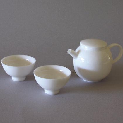 Petite Flat Lid Tea Pot & 2 Cups #4