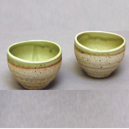 Olive Green Interior Cups, S/2