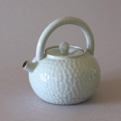 Hand-beaten Pattern Tea Pot, Light Blue