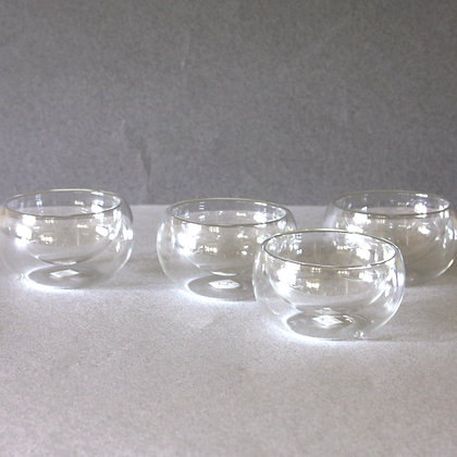 Glass Cups, Set of 4