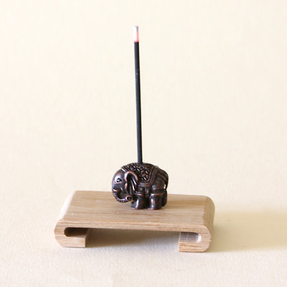 Classic Elephant Incense Stand, Metal