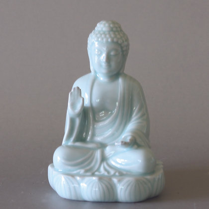 Celadon Sitting Buddha