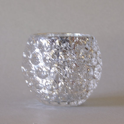 Tea Light Holder, Silver