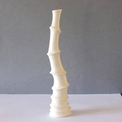 White Bamboo Vase