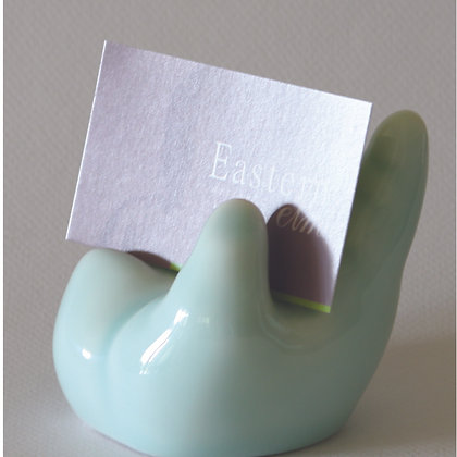 Celadon Buddha Hand Card Holder