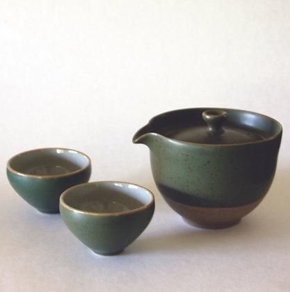 Spout Gaiwan & 2 Cups, Green