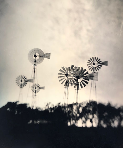 Windmills tintype