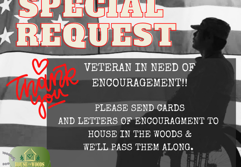SPECIAL REQUEST: SPECIAL VETERAN IN NEED