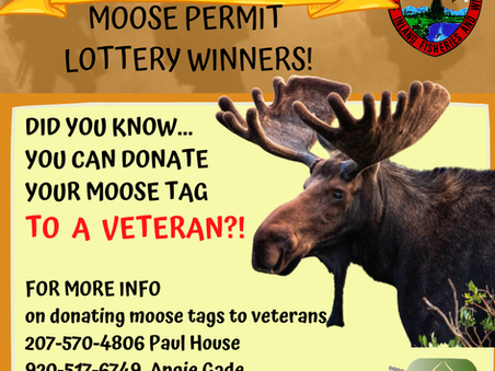 DID YOU KNOW YOU CAN DONATE YOUR MOOSE TAG TO A VETERAN?