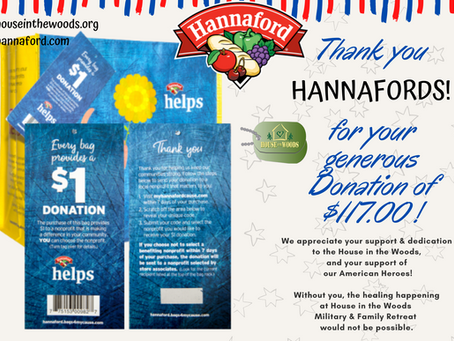 THANK YOU HANNAFORDS GROCERY STORES!