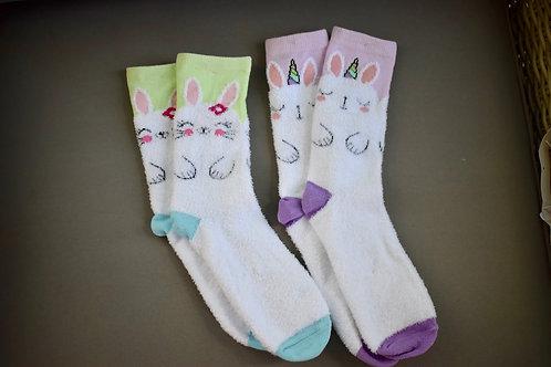 Fuzzy Easter Socks
