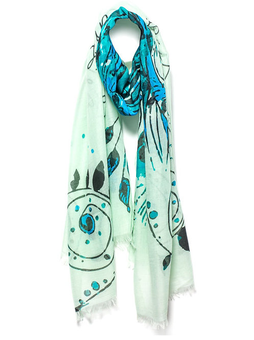 Green Mantra Scarf- Tough