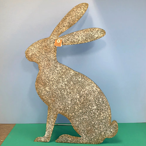 Standing Rustic Metal Bunny