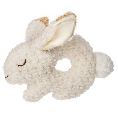 Oatmeal Plush Bunny Rattle Ring