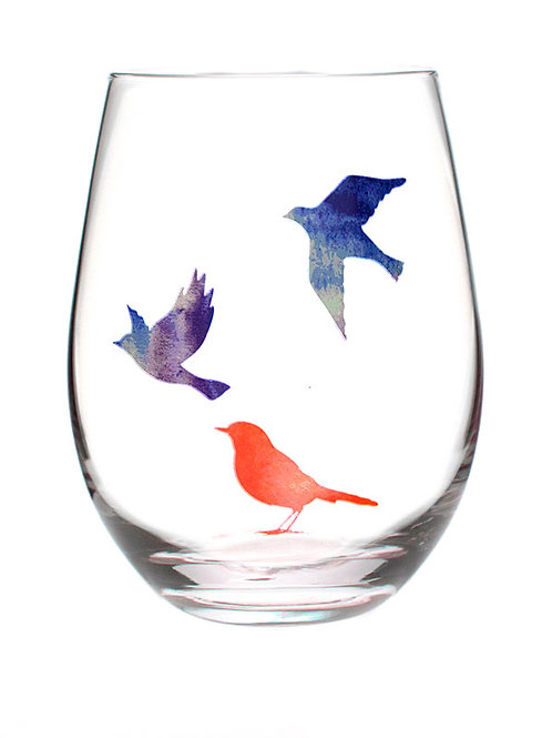 Mantra Wine Glass- Courage