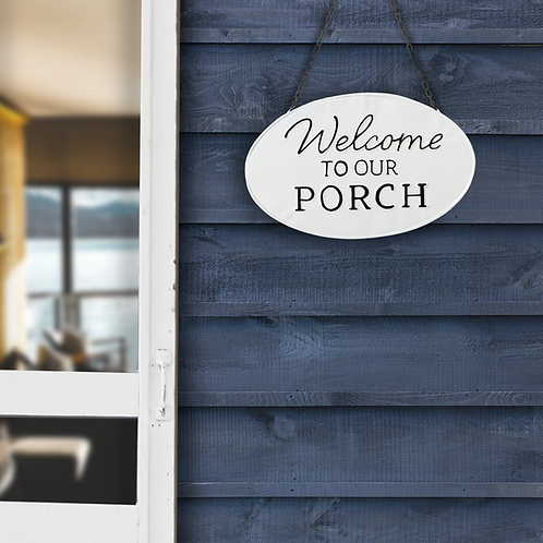 Welcome to our Porch hanging sign