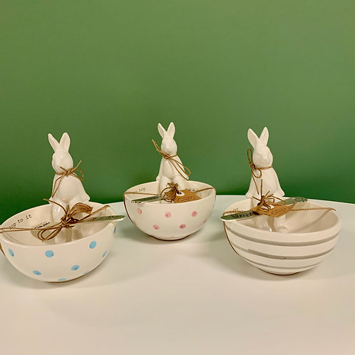 Bunny Bowl with Spreader