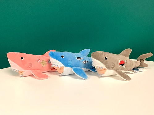 Plush Embroidered Shark