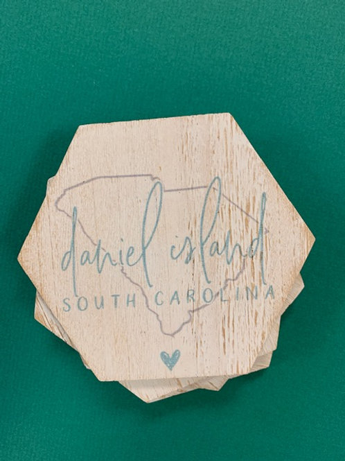 Daniel Island State Coasters Set/4