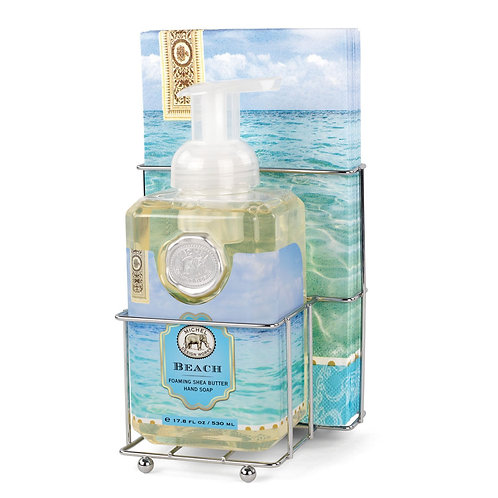 Beach Foaming Hand Soap Napkin Set