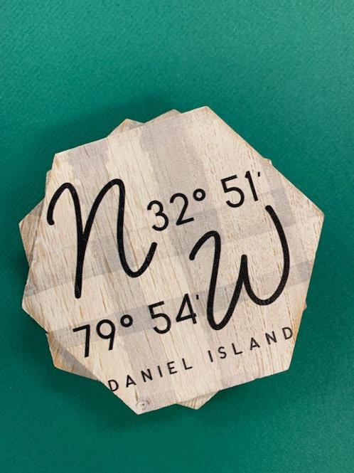Daniel Island coordinates coaster set/4