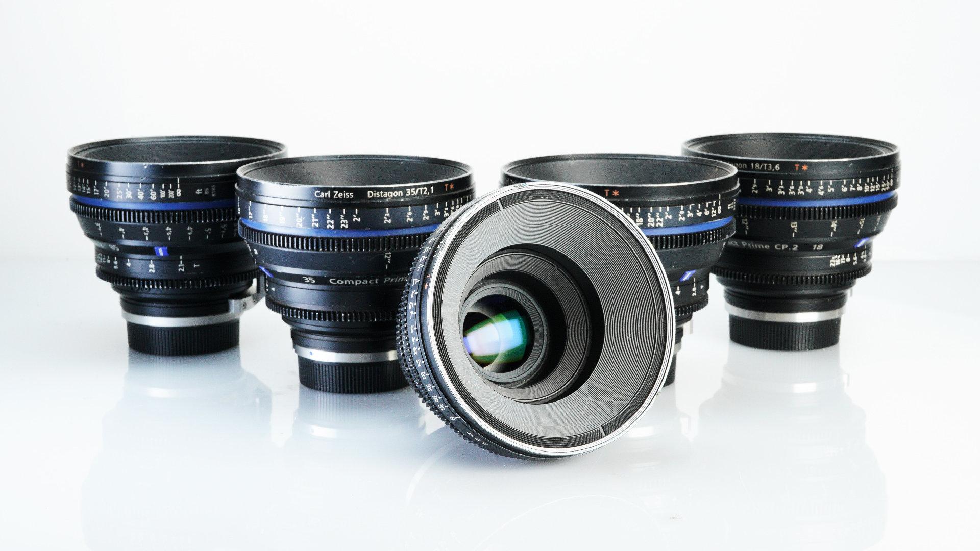 Zeiss Compact Primes CP 2 - 7 Lens Set