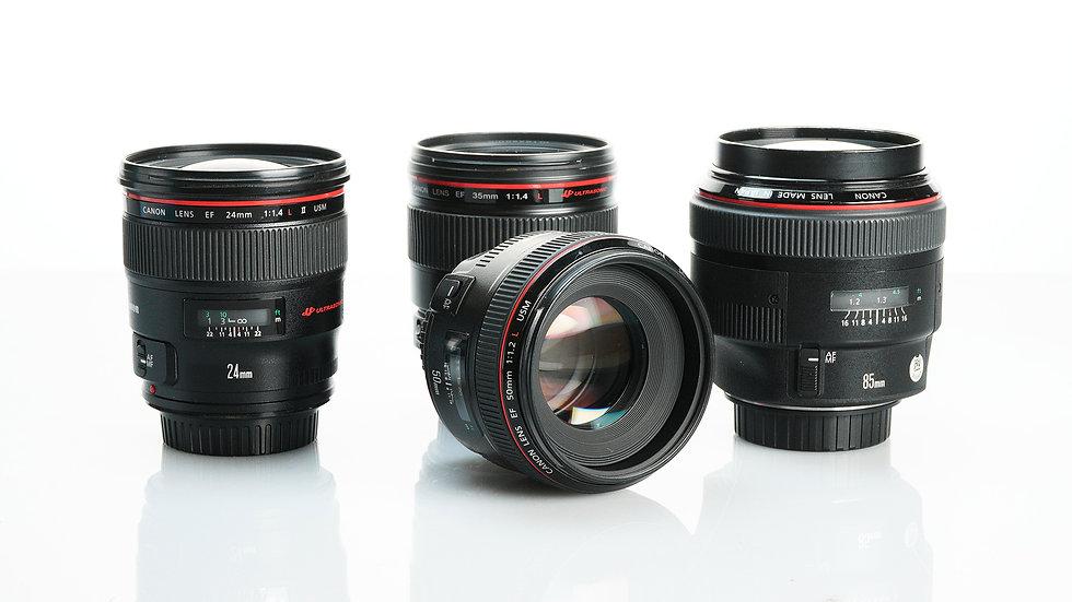 Canon L Series Primes - 4 Lens Set